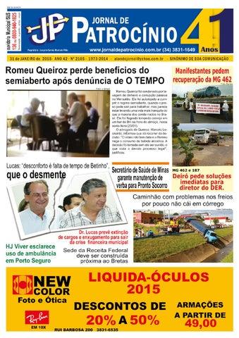 Jornal de Patrocínio, Edição N° 2105, 31 Jan 2015 by Lucas Lopes - issuu 16605401ff