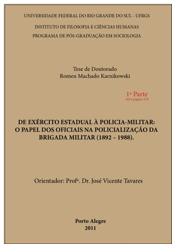 Prof Romeu Machado - DE EXÉRCITO ESTADUAL À POLICIA-MILITAR  O PAPEL ... 9984d650271e0