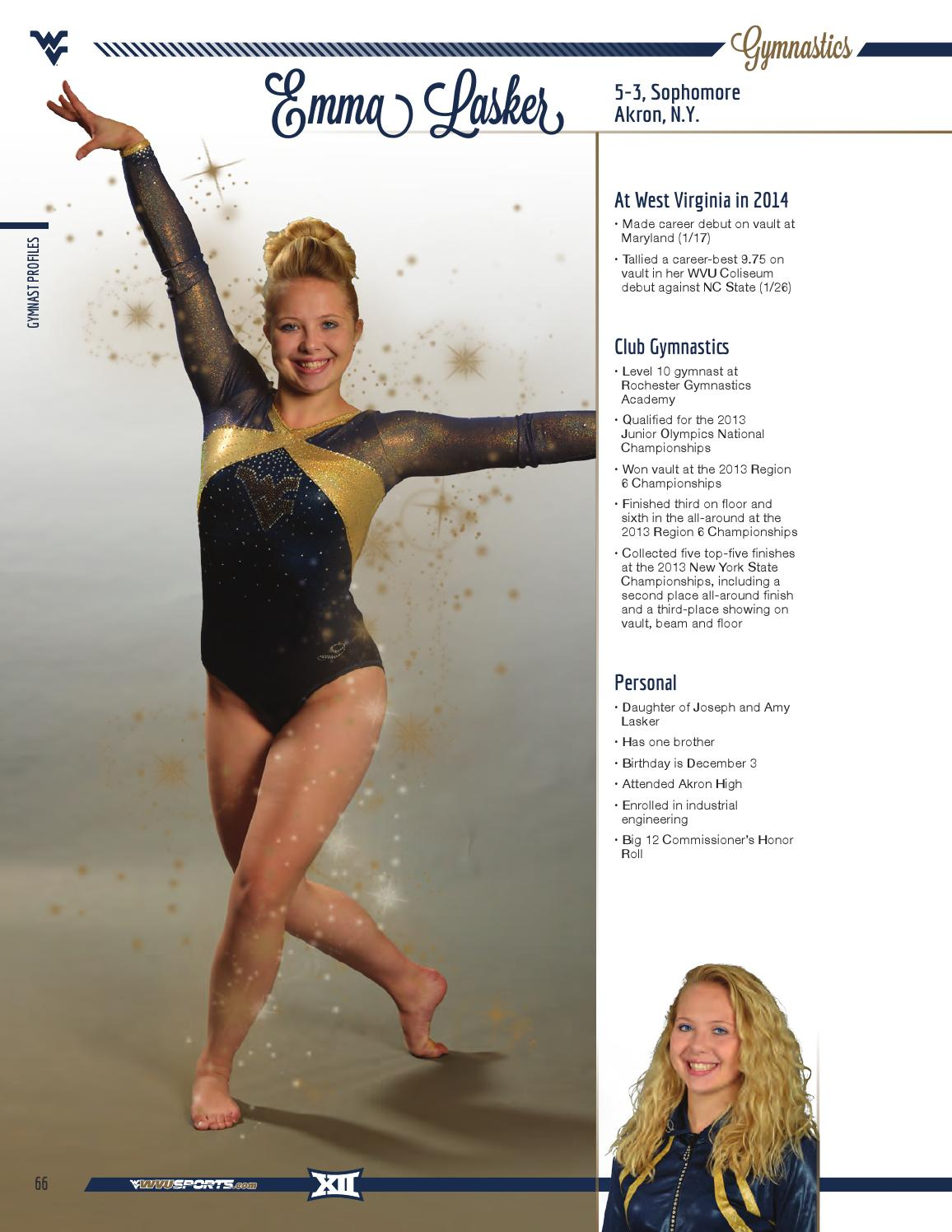 2015 West Virginia University Gymnastics Guide by Joe Swan