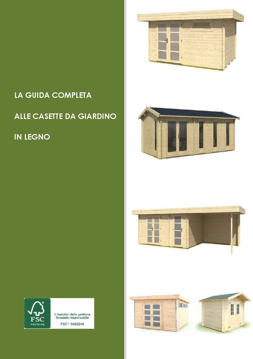 La guida completa alle casette da giardino in legno by for Casette italia