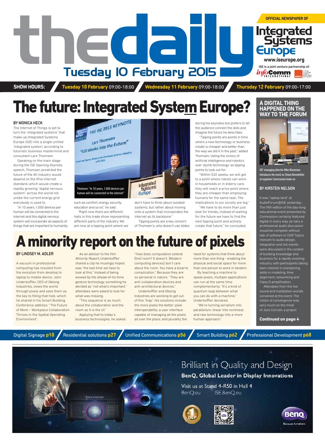 Ise Daily Tuesday 10 February 2015 By Future Plc Issuu Deepak Julien On The Web Best Practices For Ethernet Cable Wiring