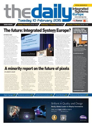 ISE Daily Tuesday 10 February 2015 by Future PLC - issuu