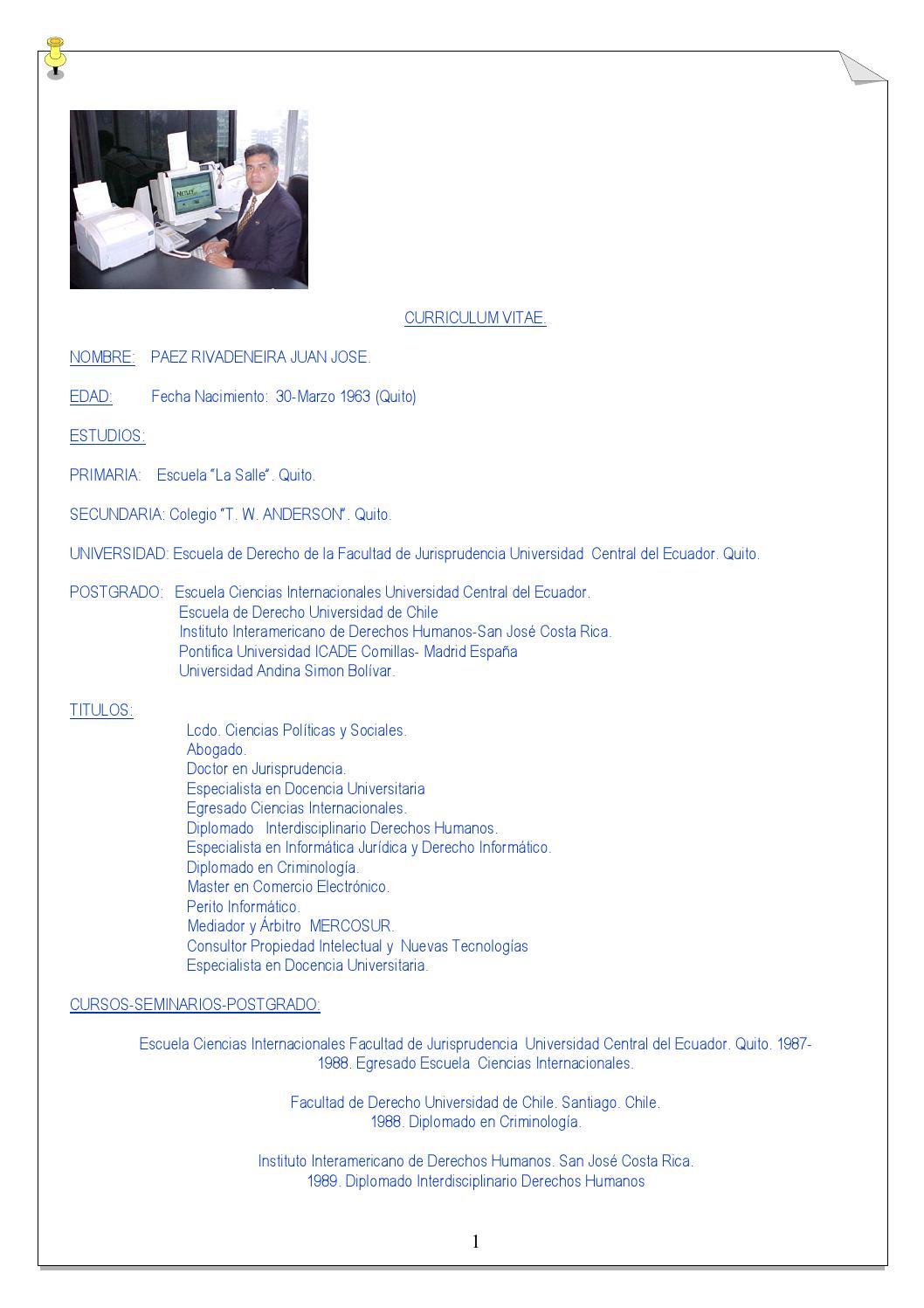 Curriculum drpaez by Juan Jose Paez Rivadeneira - issuu