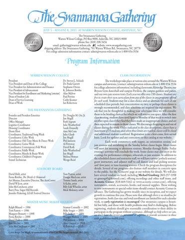 2015 Swannanoa Gathering Catalog By Warren Wilson College Issuu