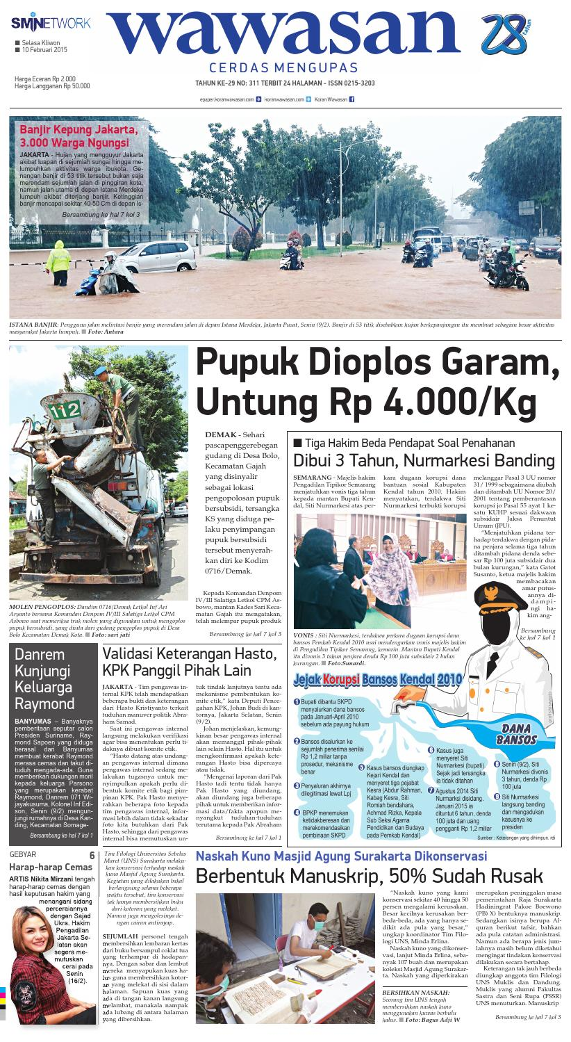 Wawasan 10 Februari 2015 By Koran Pagi Issuu Produk Ukm Bumn Tas Phiton Kombinasi Coklat Krem