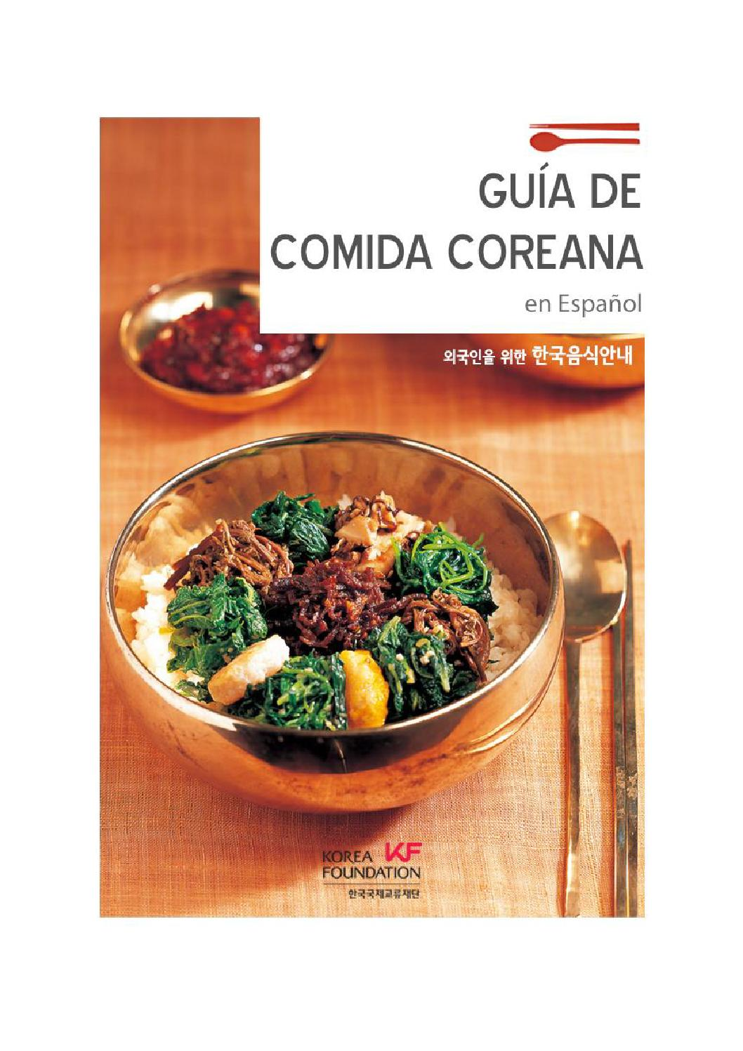 Korean Food Guide 800 (Spanish) by The Korea Foundation - issuu