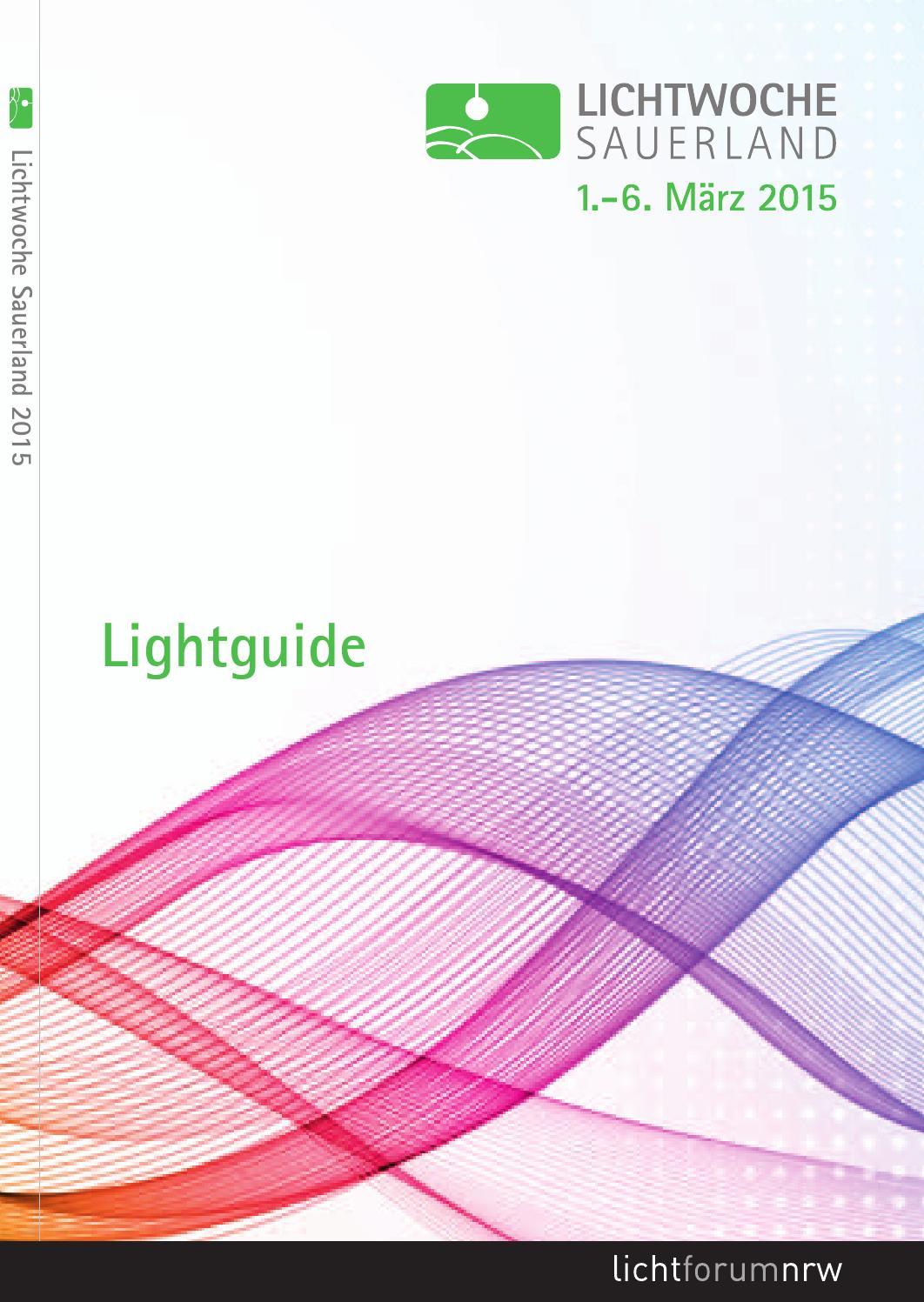 Lichtwoche Sauerland 2015 Lightguide By Lichtforum Nrw Issuu