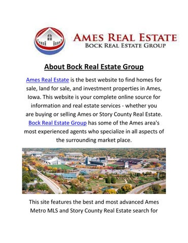 Homes For Sale In Ames From Bock Real Estate Group By Bock Real