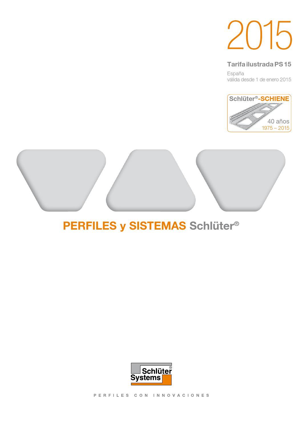Catálogo Schlüter System 2015 by Cymper - issuu
