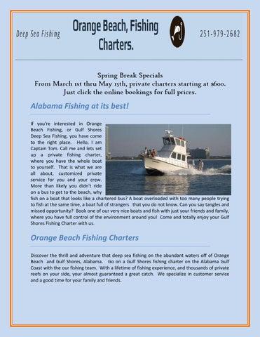 Orange Beach Fishing Charters by orangebeachfish - issuu