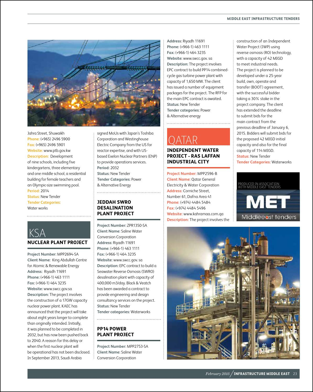 Infrastructure Middle East February 2015 by Infrastructure
