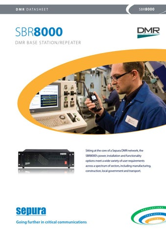Sepura DMR SBR8000 (ENG) by VHF Group - issuu