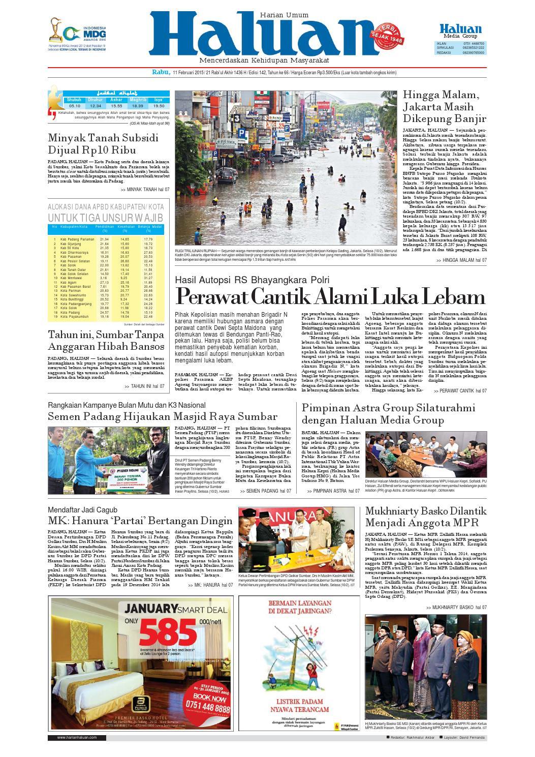 Haluan 11 Februari 2015 By Harian Issuu Kopi Bubuk Ridha Utama Smg