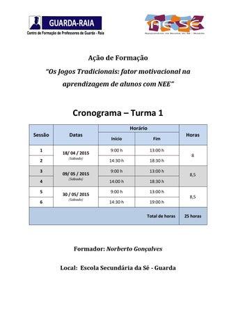 Cronograma Jogos 20tradicionais T1 By Guardaraia Issuu