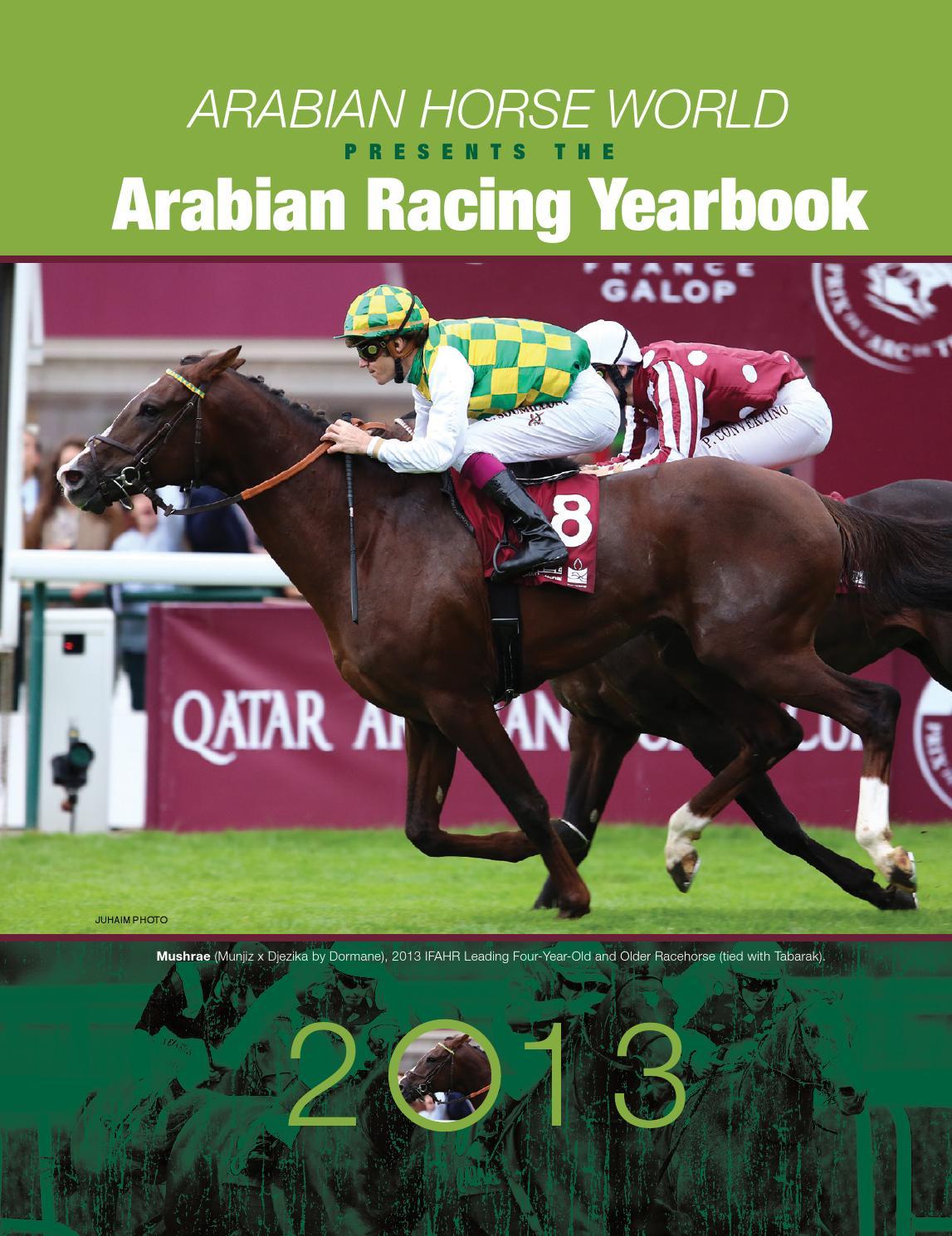 2013 Arabian Racing Yearbook By Arabian Horse World Issuu