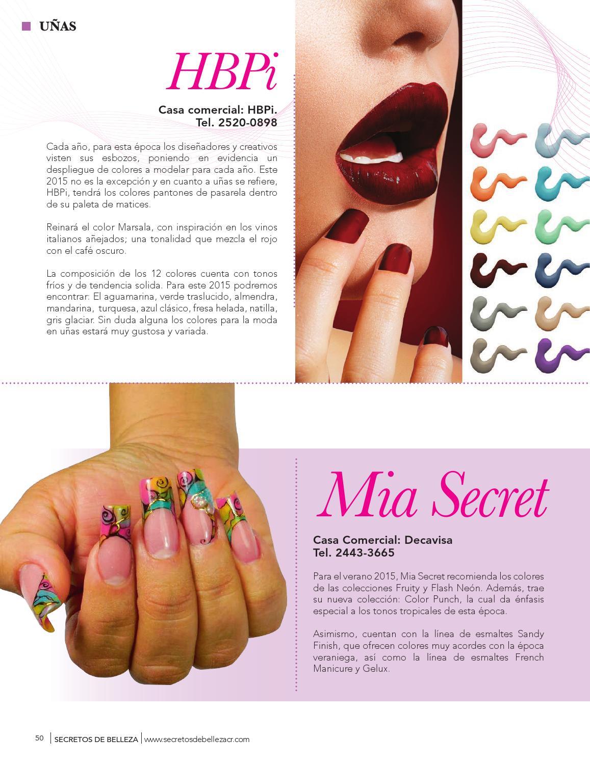 Famoso Uñas Secreto Mia Modelo - Ideas de Arte de Uñas ...