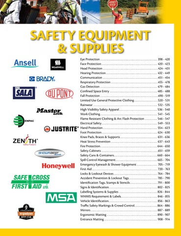 Safety Equipment & Supplies (P0720-0915) by CMI Sales Inc