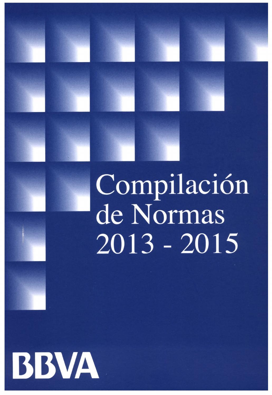 Compilación de Normas Convencionales Banco BBVA 2013-2015 by Jaime ...