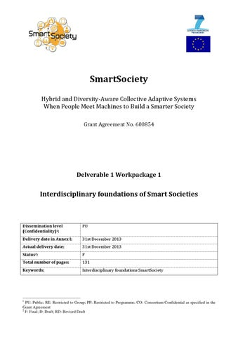 D11 Interdisciplinary Foundations Of Smart Societies By Smart