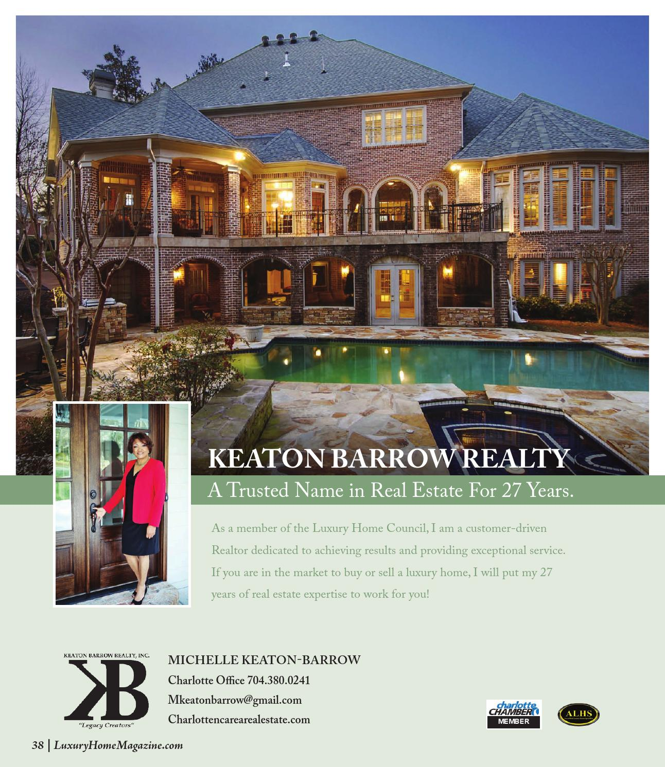 Luxury Home Magazine Charlotte Issue 3.1 By Luxury Home Magazine   Issuu