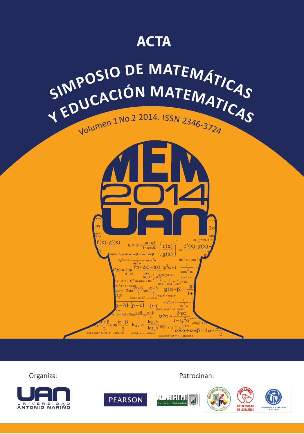 Simposioyeducacion matematica2014 2 by FONDO EDITORIAL UNIVERSIDAD ANTONIO  NARIÑO - issuu