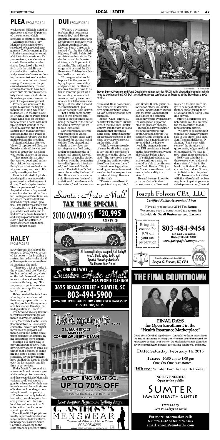 Sumter Auto Mall >> February 11 2015 By The Sumter Item Issuu