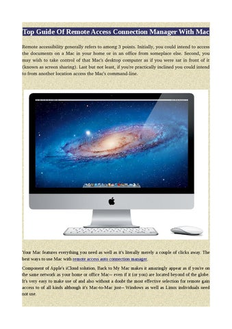 Top guide of remote access connection manager with mac by