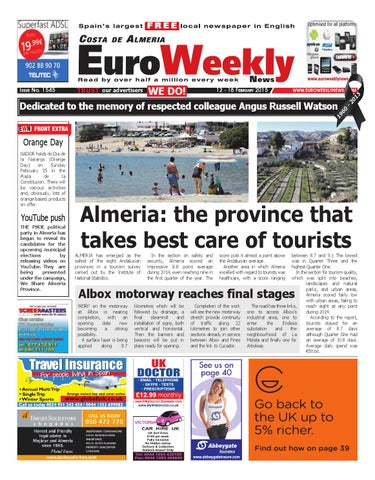 info for 55804 43522 Euro Weekly News - Costa de Almeria 12 - 18 February 2015 Issue 1545 ...