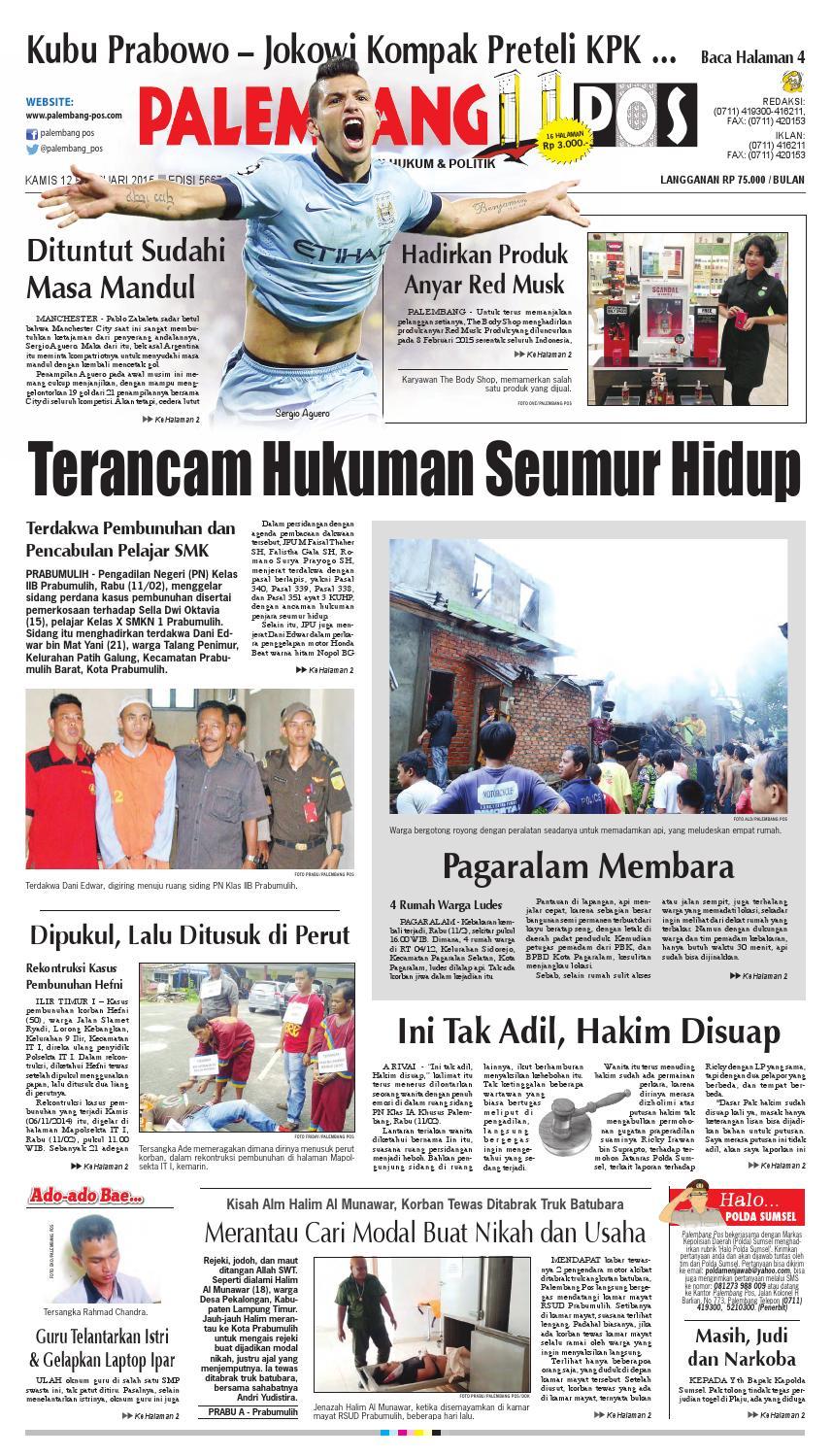 PALEMBANG POS EDISI KAMIS 12 FEBRUARI 2015 by Palembang Pos - issuu 29e1194a06