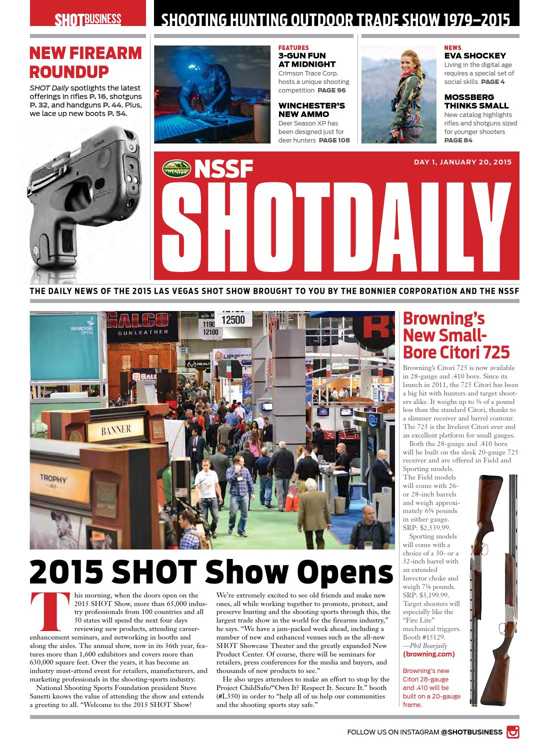 SHOT Daily 1 2015 by SHOT Business - issuu
