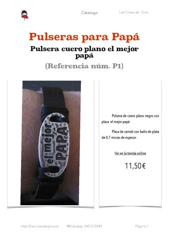 f4a9e15668c4 Catálogo de Pulseras para Papá de Las Cosas de Gina