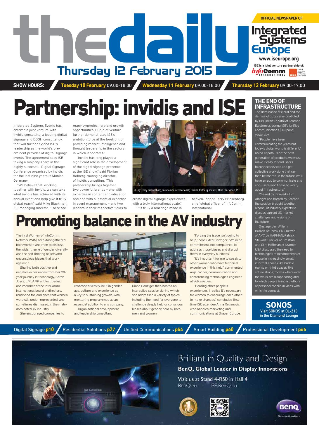 Av asia pacific magazine the new samsung smart signage platform av - Ise Daily Thursday 12 February 2015