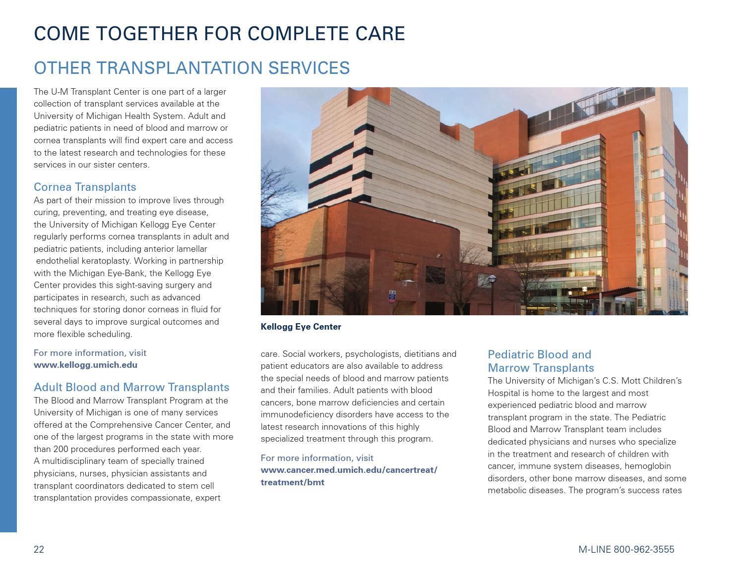 Transplant Center Outcomes 2013 by Michigan Medicine - issuu