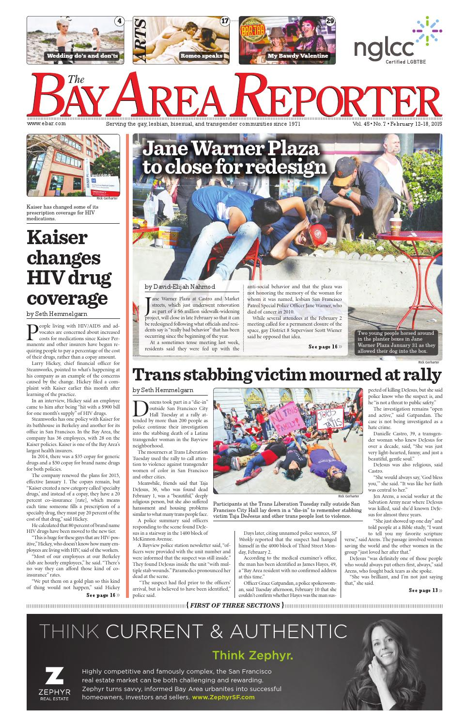 February 12, 2015 Edition of the Bay Area Reporter