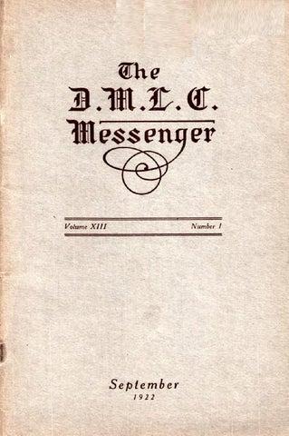 1922-1923 DMLC Messenger Vol. 13 by Martin Luther College - issuu