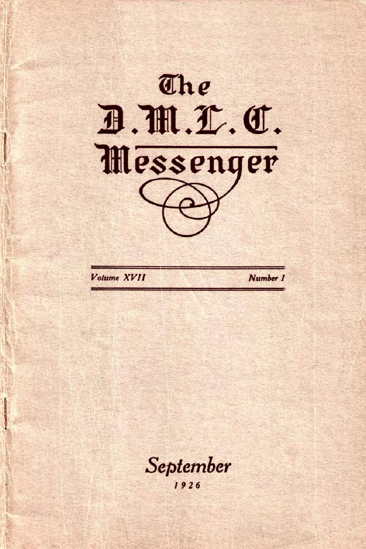 1926-1927 DMLC Messenger Vol. 17 by Martin Luther College - issuu