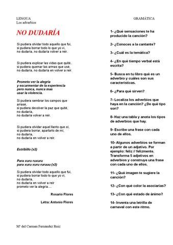 No Dudaria De Rosario Flores By Mcarmen Fernández Ruíz Issuu