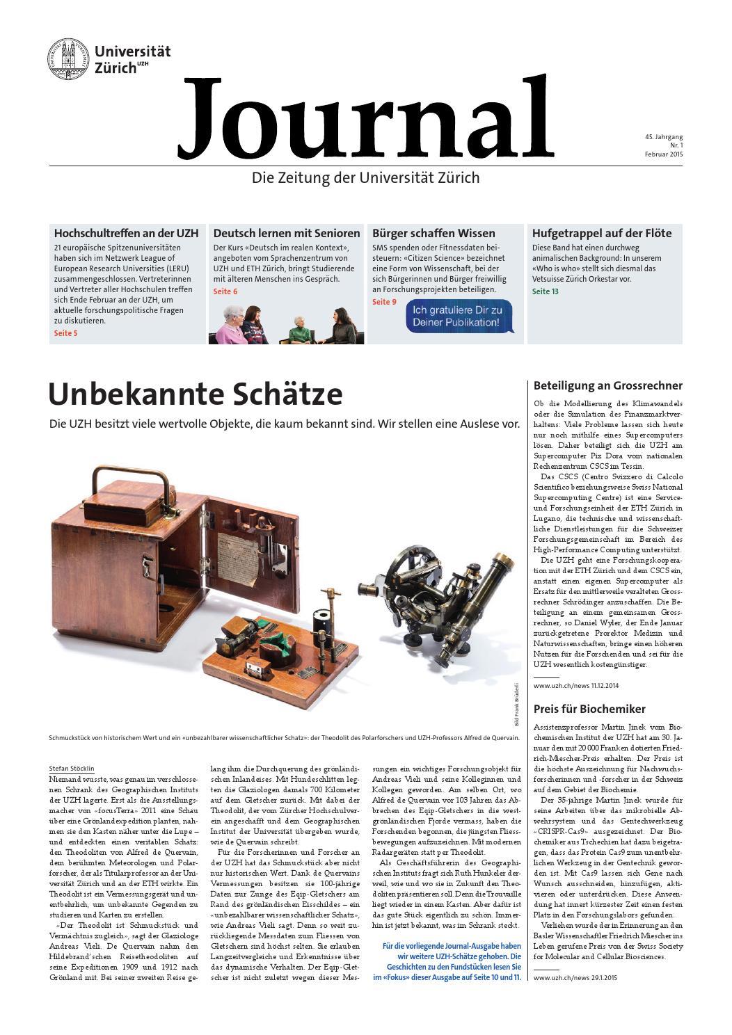 UZH Journal 1/15 by University of Zurich - issuu