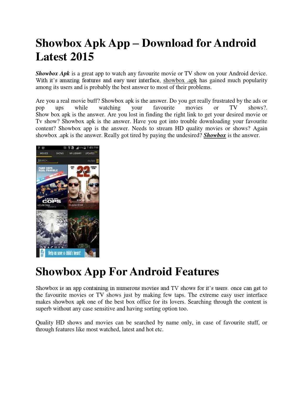 showbox apk app � download for android latest 2015 by