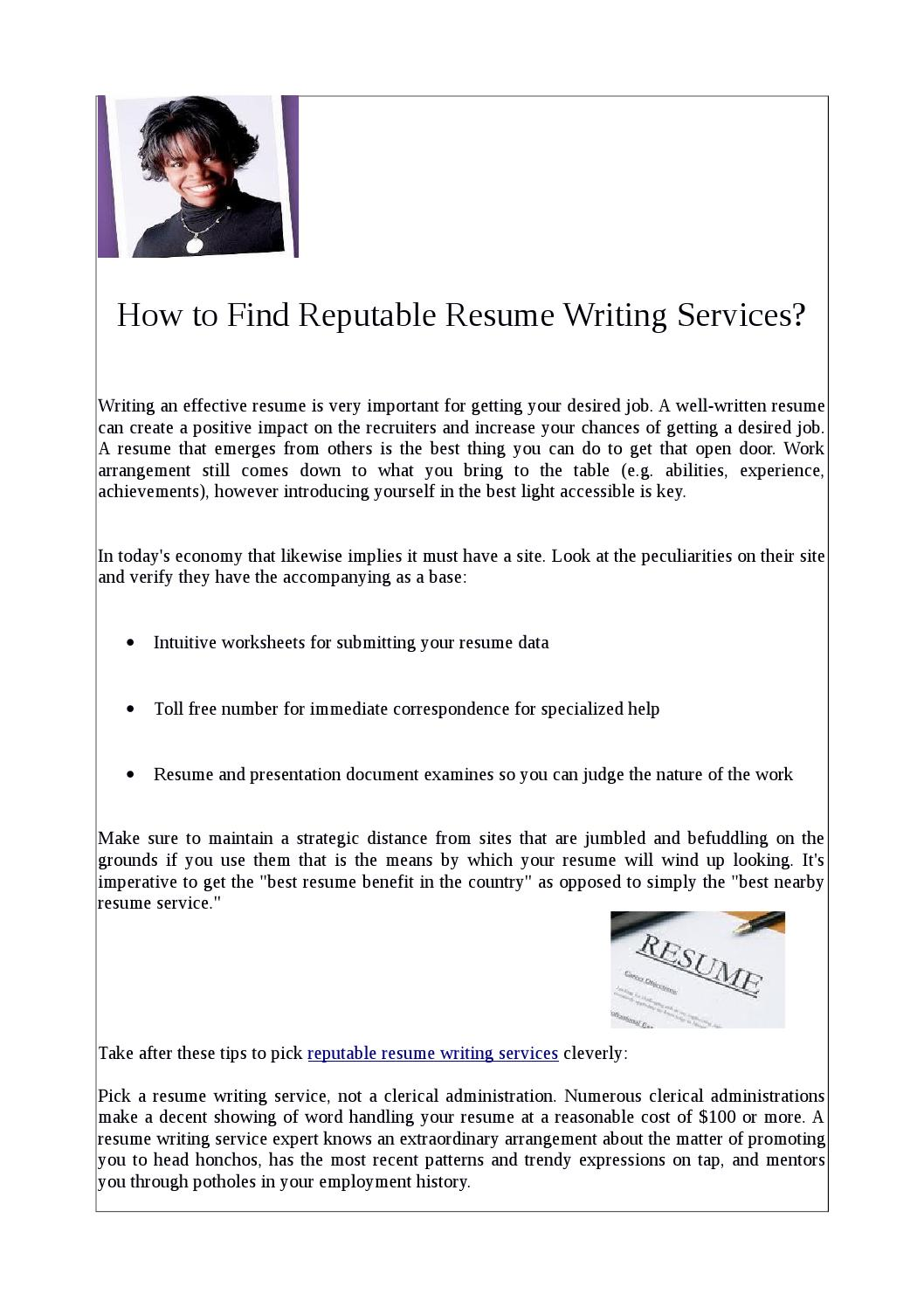 reputable resume writing services by a perfect resume