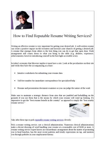 Reputable essay writers