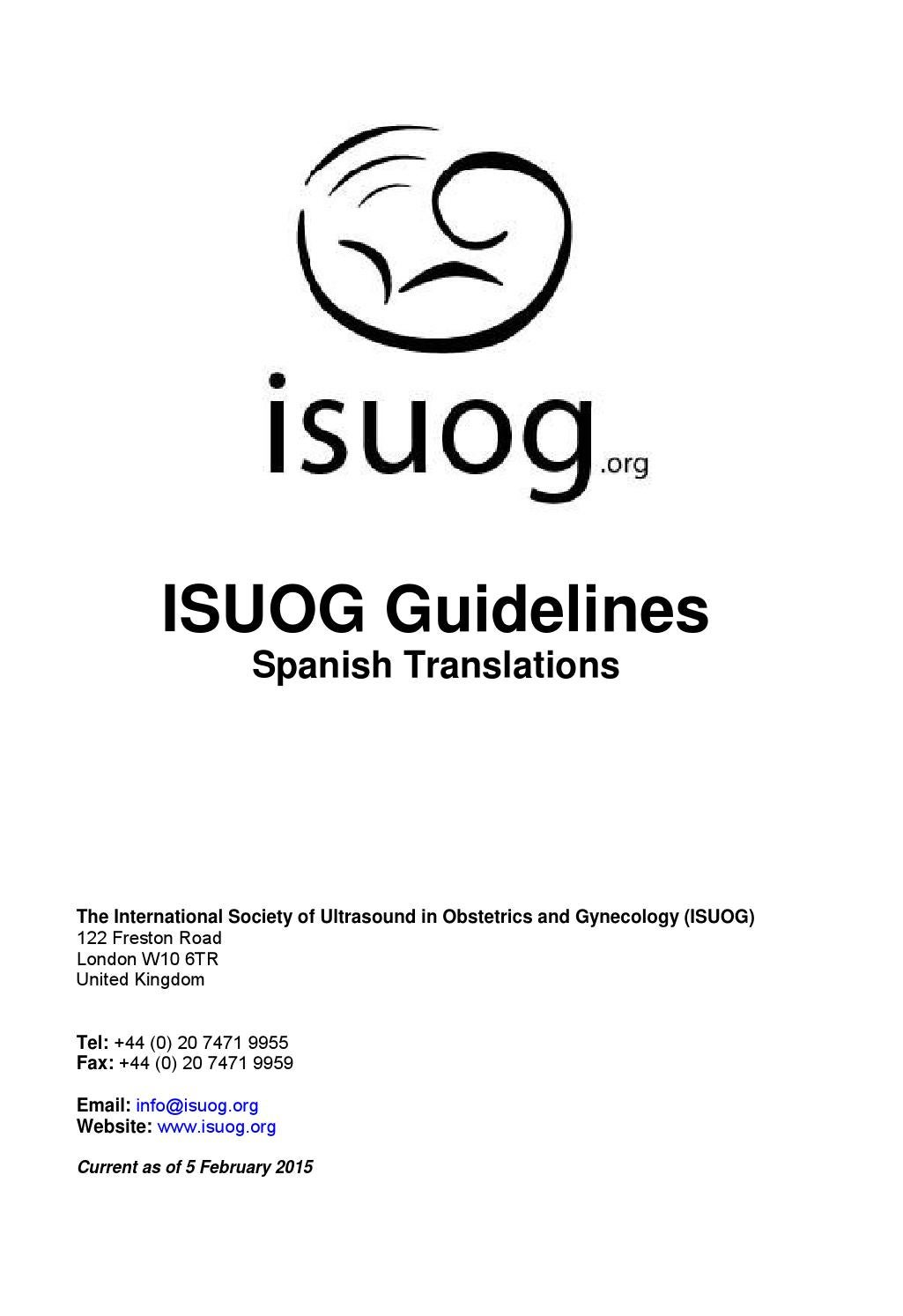 ISUOG Guidelines: Spanish Translations by isuog - issuu