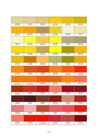 Ral Color Chart By Tom Matuka Issuu