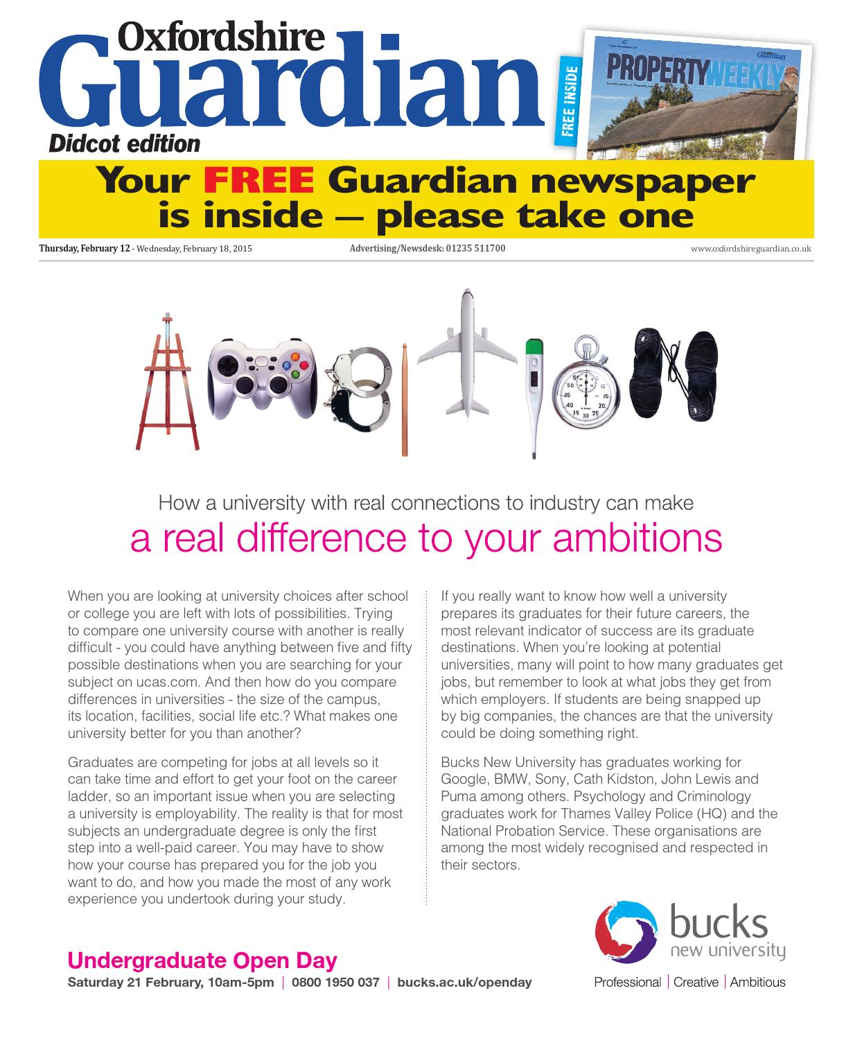 12 February 2015 Oxfordshire Guardian Didcot By Taylor Newspapers