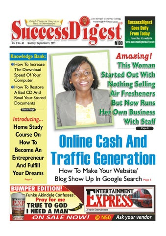 Success digest monday sept 5 2011 by success digest issuu page 1 fandeluxe Image collections