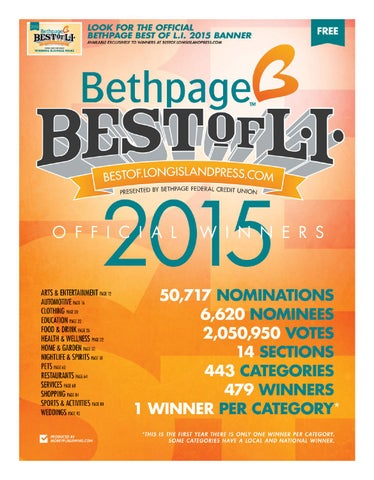 Besthpage Best of L I  2015 - Official Winners by Long
