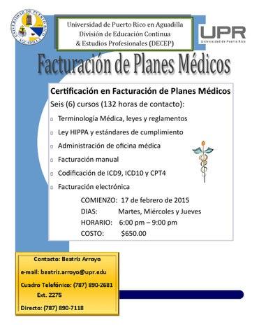 Certificado en Facturación de Planes Médicos by Educacion Continua ...