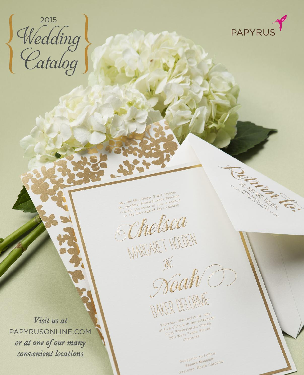papyrus 2015 wedding custom printing catalog by papyrus retail issuu - Papyrus Wedding Invitations