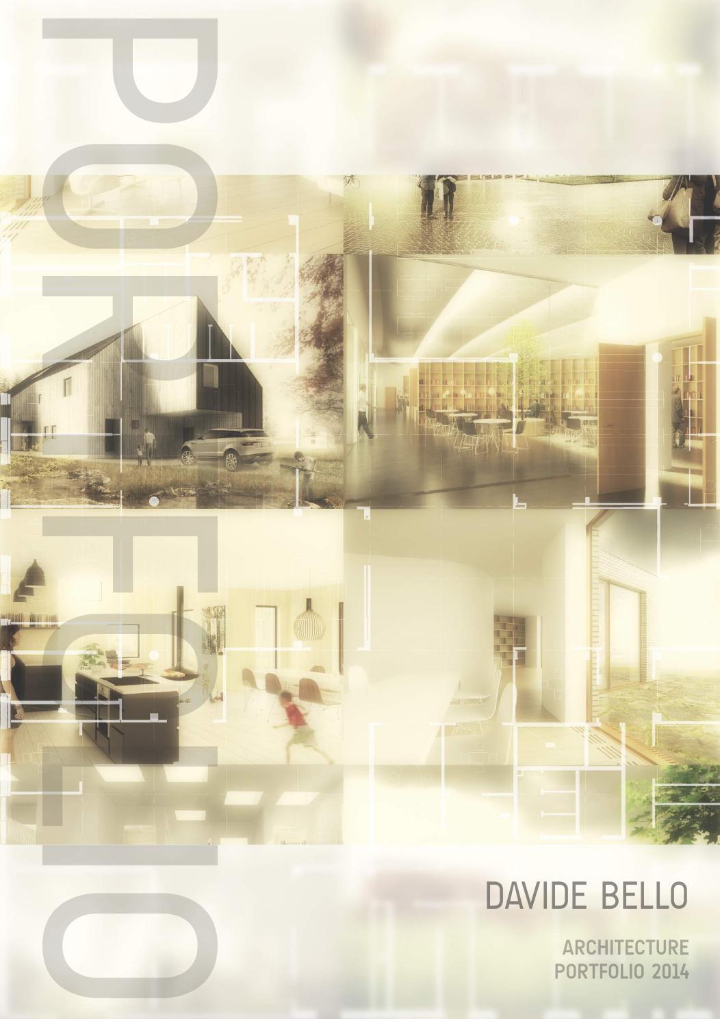 Portfolio 2014 by davide bello issuu for Architectural portfolio ideas