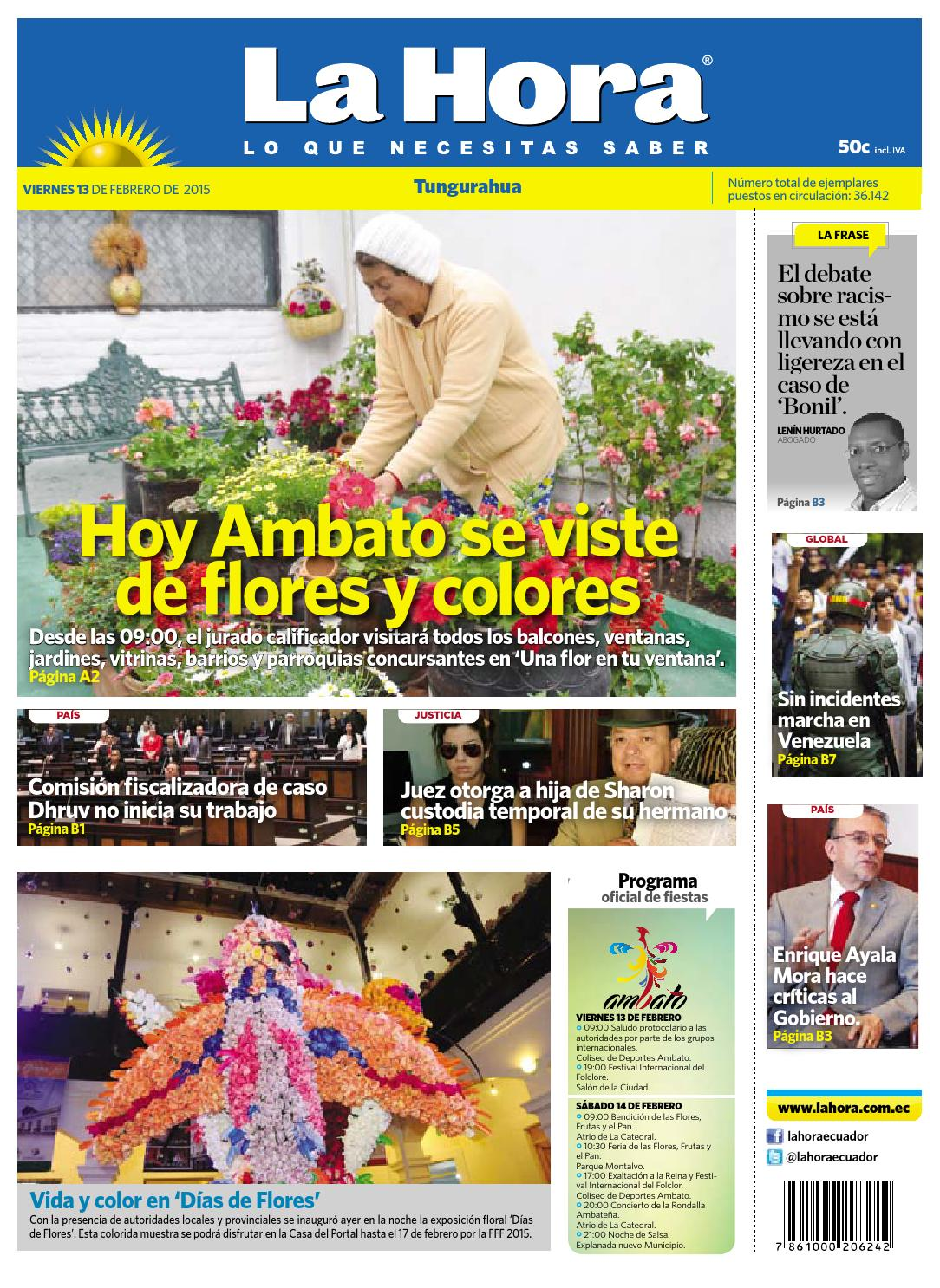 Ambato13febrero2015 by Diario La Hora Ecuador - issuu